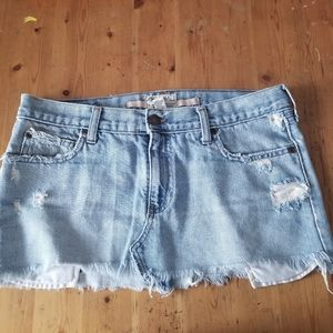 Abercrombie & Fitch Denim Distressed Mini Skirt 6